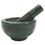 Green Marble Mortar and Pestle, 4.5 Inch