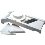 White Plastic Mandoline Slicer with Stainless Steel Blades