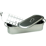 Stainless Steel Fish Poacher with Removable Rack