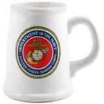 Marine Corps Ceramic Tankard Beer Mug, 22 Ounce