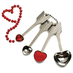 RSVP Stainless Steel Heart Shaped Measuring Spoon, Set of 4