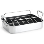 Chef's Design Aluminum French Roaster with Rack, 14 Inch