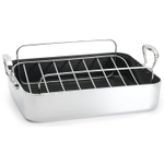 Chef's Design Aluminum French Roaster with Rack, 16 Inch
