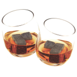 True Fabrications Glacier Rocks Whiskey Soapstone Ice Cube and Rocking Tumbler 8 Piece Gift Set