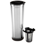 Takeya Double Wall Stainless Steel Tumbler with Removable Mesh Infuser, 16 Ounce