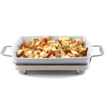 All-Clad Rectangular White Porcelain Baker, 9 x 13 Inch - 2100073095 (E8689664)