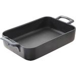 Revol Belle Cuisine Slate Porcelain 1.8 Quart Rectangular Roasting Dish