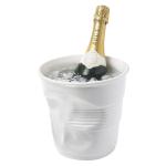 Revol Froisses White Porcelain 3.3 Quart Crumple Champagne Bucket