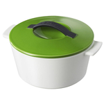 Revol Revolution Lime Green Ceramic 1.75 Quart Round Cocotte With Lid