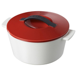 Revol Revolution Pepper Red Ceramic 1.75 Quart Cocotte with Lid