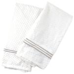 Popular Home Triple Beige Stripe Kitchen Towel, Set of 4
