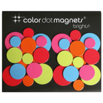 Three by Three Brights Color Dot Magnet, Set of 30