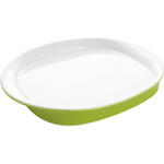 Rachael Ray Round and Square Collection Green Stoneware Serving Platter, 14 Inch