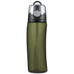 Thermos Intak Leak-Proof Olive Green Hydration Bottle with Meter, 24 Ounce