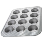 USA Pan Aluminized Steel 12 Cup Muffin Pan