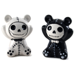 Summit Pandie Black and White Ceramic Panda Bear Furry Bones Salt and Pepper Shaker Set