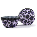 Cupcake Creations Lavender Leopard Baking Cup, Set of 32