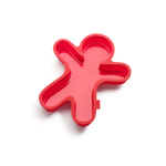 Lekue Red Silicone Gingerbread Man Cake Mold, 6.5 Cup