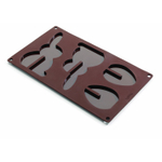 Lekue 3D Brown Silicone Easter Egg and Rabbit Mold