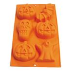 Lekue Orange Silicone 6 Cavity Halloween Candy Mold