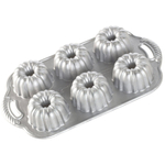 Nordic Ware Platinum Anniversary Nonstick Cast Aluminum Bundtlette Pan