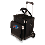 Picnic Time NFL Buffalo Bills Insulated 6 Bottle Cellar Wine Tote with Trolley