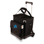 Picnic Time NFL Detroit Lions Insulated 6 Bottle Cellar Wine Tote with Trolley