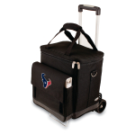 Picnic Time NFL Houston Texans Insulated 6 Bottle Cellar Wine Tote with Trolley