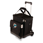 Picnic Time NFL Miami Dolphins Insulated 6 Bottle Cellar Wine Tote with Trolley