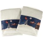 Blonder Primitive Snowmen Bath Towel, Set of 2