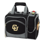 Picnic Time Malibu Black NCAA Colorado Golden Buffaloes Embroidered Picnic Pack