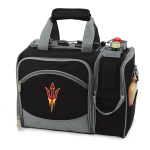 Picnic Time Malibu Black Polyester NCAA Arizona State Sun Devils Digital Print Picnic Basket