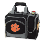Picnic Time Malibu Black Polyester NCAA Clemson University Tigers Digital Print Picnic Basket