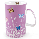 Ashdene Tranquil Butterfly Plum Bone China Mug
