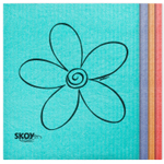 Skoy Assorted Color Eco-Friendly Cleaning Cloth, Set of 4