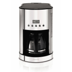 Krups Breakfast Stainless Steel 12 Cup Coffee Maker with Glass Carafe