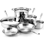 All-Clad 10 Piece Tri-Ply Stainless Steel Cookware Set