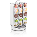 Mind Reader Vortex White 30 K-Cup Storage Carousel
