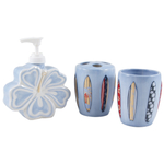 Porcelain 3 Piece Boys Surf Bathroom Set