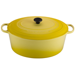 Le Creuset Signature Soleil Yellow Enameled Cast Iron 15.5 Quart Goose Pot