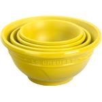 Le Creuset Soleil Yellow 4 Piece Silicone Prep Bowl Set