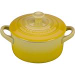Le Creuset Soleil Yellow Enameled Stoneware 8 Ounce Mini Round Cocotte