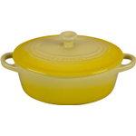 Le Creuset Soleil Yellow Stoneware Oval Mini Cocotte, 12 Ounce