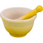 Le Creuset Soleil Yellow Stoneware Mortar And Pestle Set, 10 Ounce