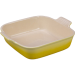 Le Creuset Heritage Soleil Yellow Stoneware 9 Inch Square Baking Dish
