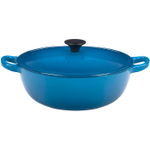 Le Creuset Marseille Blue Enameled Cast Iron Soup Pot, 3.25 Quart