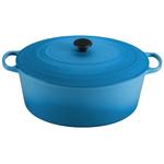 Le Creuset Signature Marseille Blue Enameled Cast Iron 15.5 Quart Goose Pot
