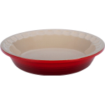 Le Creuset Heritage Cherry Stoneware Pie Pan, 5 Inch