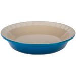 Le Creuset Heritage Marseille Blue Stoneware Pie Pan, 9 Inch