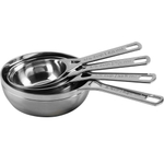 Le Creuset Polished Stainless Steel Measuring Cups, Set of 4